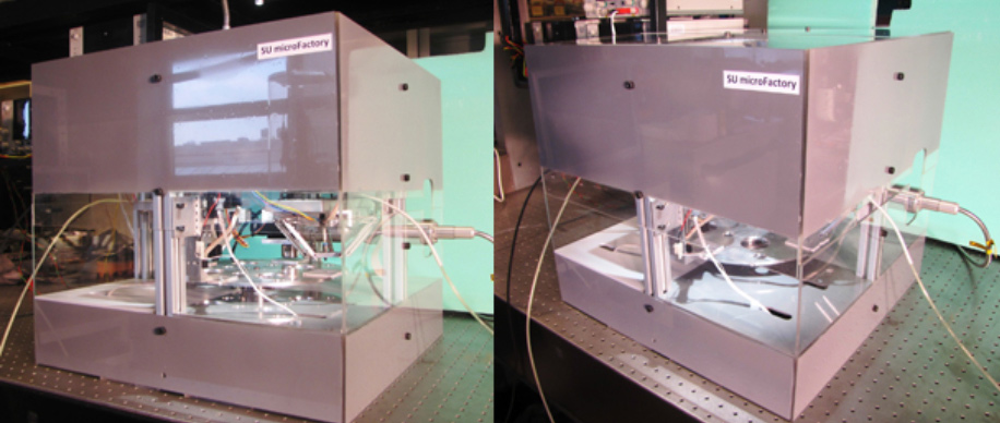 microfactory microbot based desktop manufacturing system We will learn to design and use the open source level 1 microfactory, consisting of important desktop manufacturing tools these tools are: a 3d printer, cnc circuit mill, laser cutter, and filament maker.
